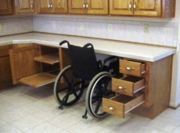 Countertop Height For Wheelchair : Modifications for the Handicapped & Disabled